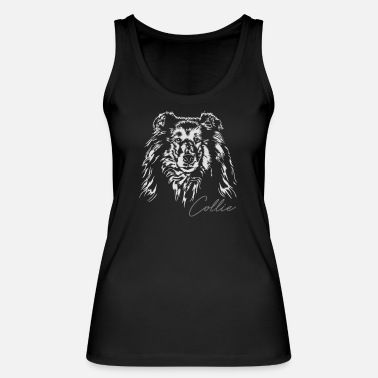 Long-haired Long-haired Herd Dog Long hair COLLIE dogs dog Wilsigns dog portrait - Women's Organic Tank Top