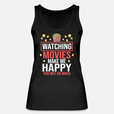 Movie Movie Movies Cinema Cinema Popcorn Cinema Shows - Women's Organic Tank Top