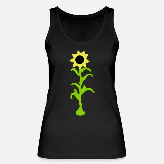Spring Tank Tops - Sunflower - Women's Organic Tank Top black
