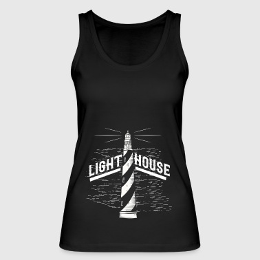 Lighthouse tower light gift beach sea - Women's Organic Tank Top by Stanley & Stella