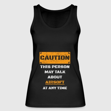 CAUTION WARNING TALK ABOUT HOBBY Airsoft - Women's Organic Tank Top by Stanley & Stella