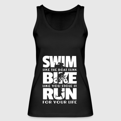 Triathlon - swimming cycling running gift - Women's Organic Tank Top by Stanley & Stella