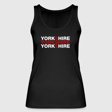 Yorkshire United Kingdom Flag Shirt - Yorkshire T- - Women's Organic Tank Top by Stanley & Stella