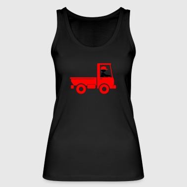 A Pickup Truck Drives To A Warehouse - Women's Organic Tank Top by Stanley & Stella