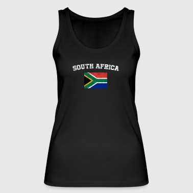 South African Flag Shirt - Vintage South Africa T- - Women's Organic Tank Top by Stanley & Stella