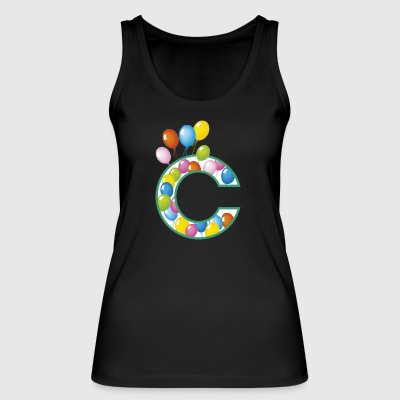 Letter C balloons - Women's Organic Tank Top by Stanley & Stella