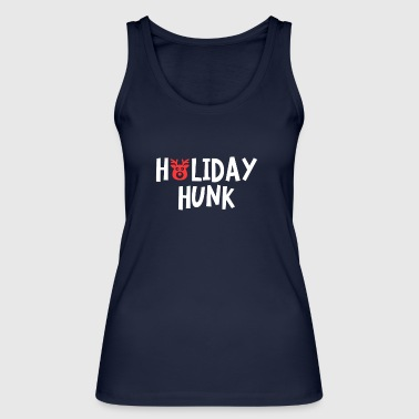 Holiday Hunk Rudolph Red Nosed Reindeer Christmas - Women's Organic Tank Top by Stanley & Stella