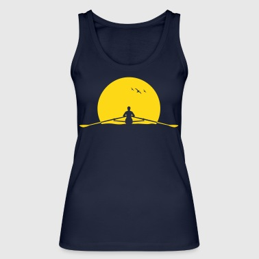 Rowing sunset rower rowing skulls - Women's Organic Tank Top by Stanley & Stella