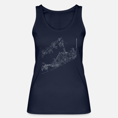 Area Minimal The Hamptons city map and streets - Vrouwen bio tank top