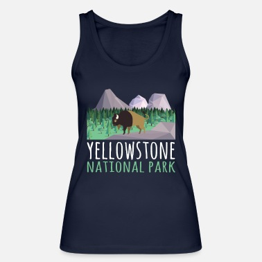 Helped Dome US Bison Buffalo Yellowstone National Park - Women's Organic Tank Top