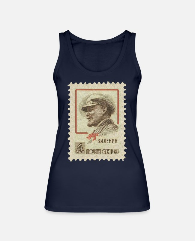 Communist Tank Tops - Lenin - Women's Organic Tank Top navy