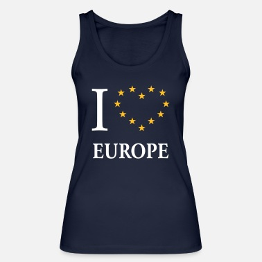 We Love Europe I Love Europe / I Heart Europe (Europa) - Frauen Bio Tanktop