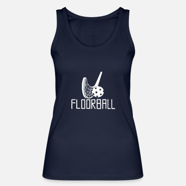 Floorball design bianco - Canotta ecologica donna