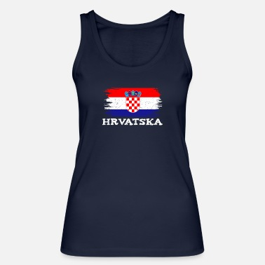 What Croatia flag home Hrvatska sport family - Women's Organic Tank Top