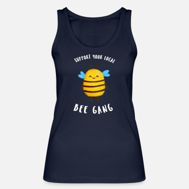 Support your local Bee gang | Fröhliche Biene - Frauen Bio Tanktop
