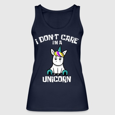 Unicorn Shirt i dont care in a unicorn - Women's Organic Tank Top by Stanley & Stella