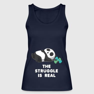 Panda - Lazy - Struggle - Tired - Gift - Women's Organic Tank Top by Stanley & Stella