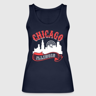 Chicago Illinois Vintage City - Women's Organic Tank Top by Stanley & Stella