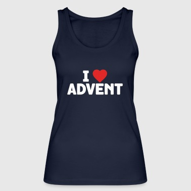 I Love Advent Christmas Season Countdown Calendar - Women's Organic Tank Top by Stanley & Stella