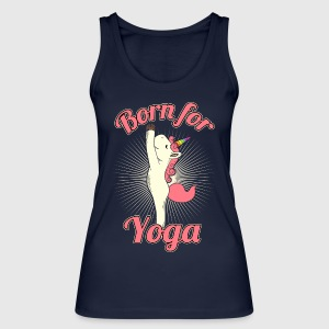 "Yoga Unicorn ""Born for Yoga"" - Økologisk singlet for kvinner fra Stanley & Stella"