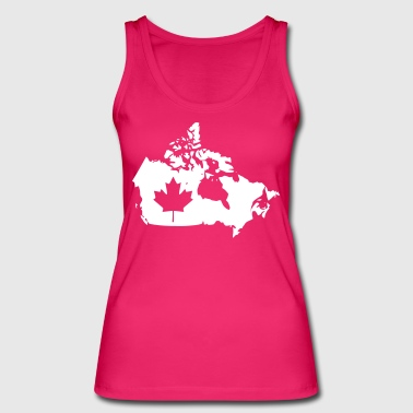 Canada Map - Canada Map - Women's Organic Tank Top by Stanley & Stella