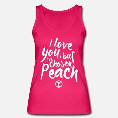 I Love Peach - Women's Organic Tank Top by Stanley & Stella