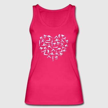 Yoga Asana Heart - Women's Organic Tank Top by Stanley & Stella