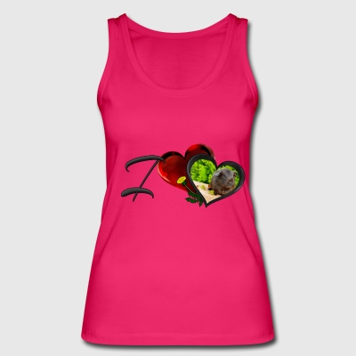 I love Guinea pig - Version 2 - Women's Organic Tank Top by Stanley & Stella