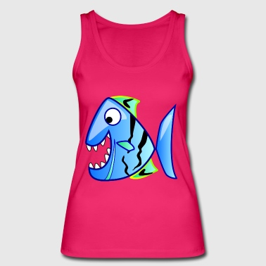 piranha funny - Women's Organic Tank Top by Stanley & Stella