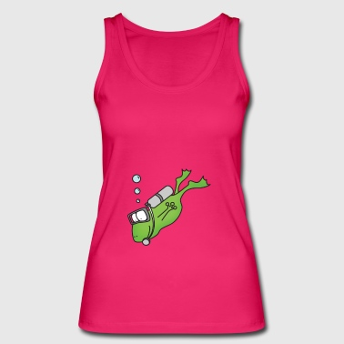 Frog Diver Print Gift T-Shirt Funny Cool - Women's Organic Tank Top by Stanley & Stella