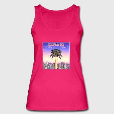 Laser Spewing City Invader - Women's Organic Tank Top by Stanley & Stella