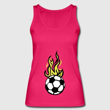 soccer ball soccer flame fire flame - Women's Organic Tank Top by Stanley & Stella
