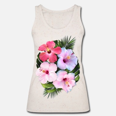 Tropical AD Flowers - Women's Organic Tank Top by Stanley & Stella