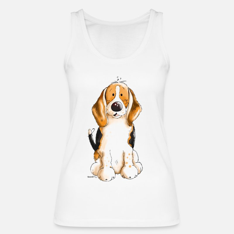 Beagle Tank Tops - Cute Beagle - Women's Organic Tank Top white