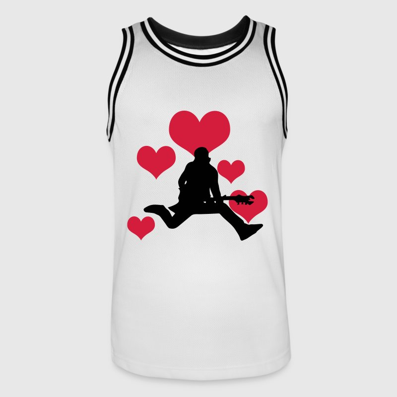 Rocker with 5 hearts - Men's Basketball Jersey