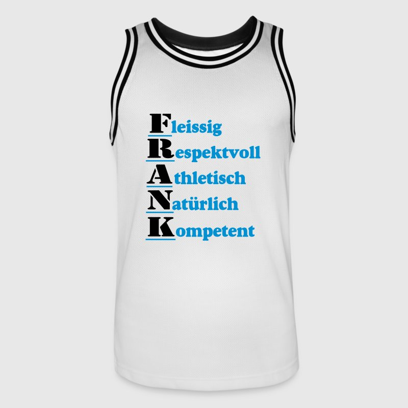 Frank , Name , Shirt - Männer Basketball-Trikot