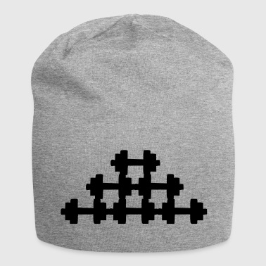 dumbbells - Beanie in jersey