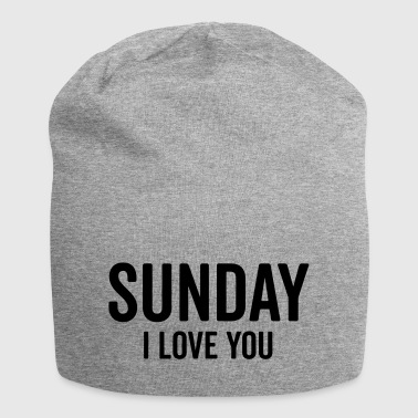 Sunday Love Funny Quote - Jersey Beanie