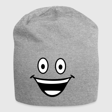 happy smiley - Gorro holgado de tela de jersey