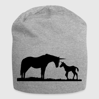 Unicorns - Unicorn mother and baby - Beanie in jersey