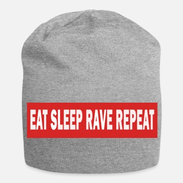 Jumpstyle Spis Sleep Rave Repeat - Electro Dance Music Techno - Jersey-Beanie