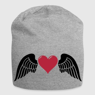 winged heart 2c - Jersey Beanie