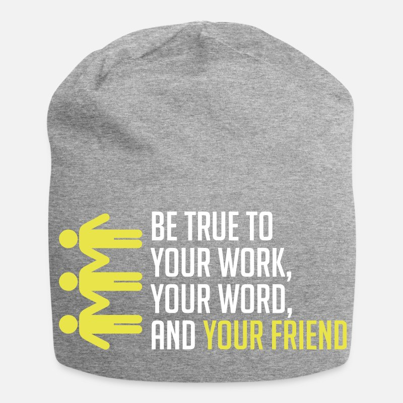 Gift Idea Caps & Hats - Best friend. Best. Gschenk. Quotes - Beanie heather grey