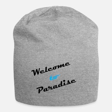 Refugees Welcome Funny sayings parody 01 - Jersey Beanie