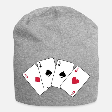 Croix Gammée Card Game, Poker, Ace - Bonnet en jersey