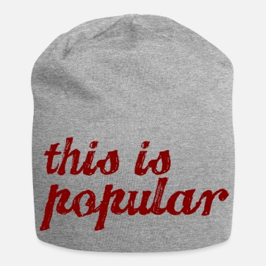 Popular this is popular - Jersey Beanie