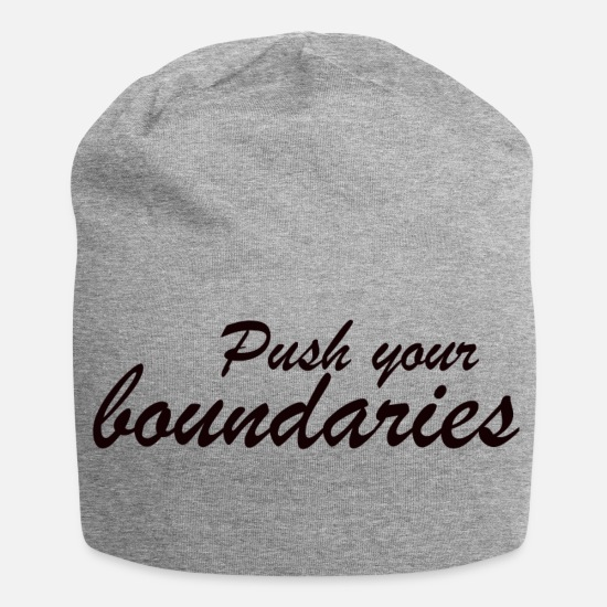 Gift Idea Caps & Hats - Push boundaries - Beanie heather grey