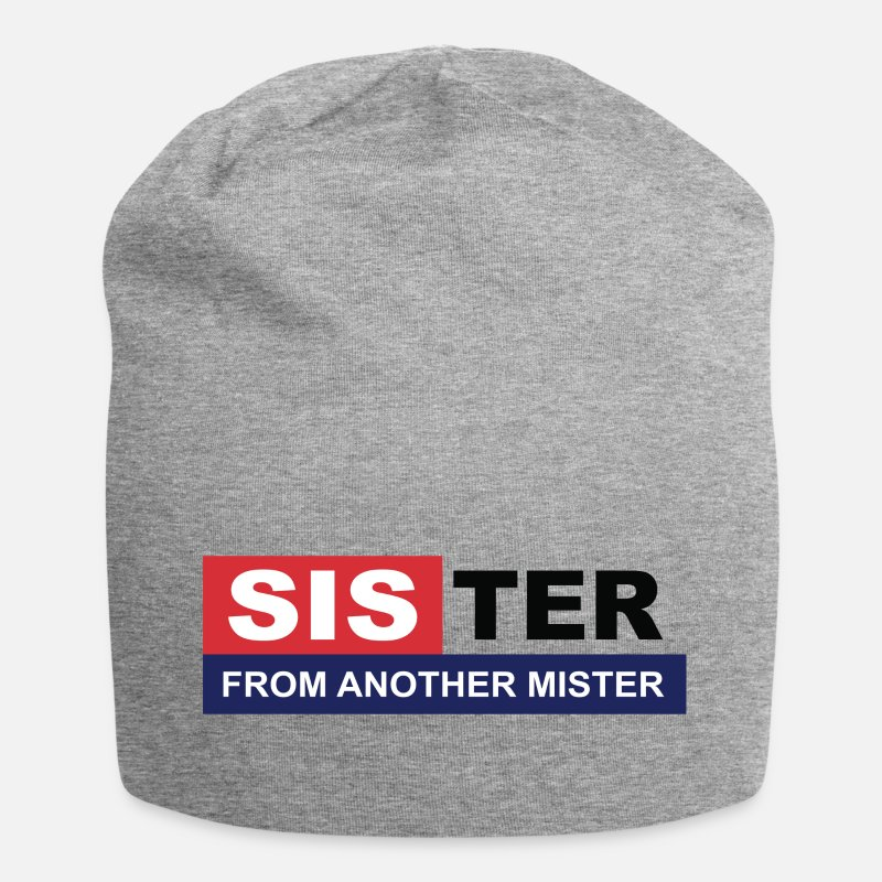 Sister Caps & Hats - Sister from another mister / friends, BFF, besti - Beanie heather grey