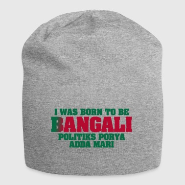 I Was Born To Be Bangali - Green - Jersey Beanie