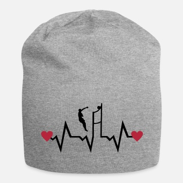 Beachvolleyball Volleyball Player & Heartbeat - Beanie in jersey